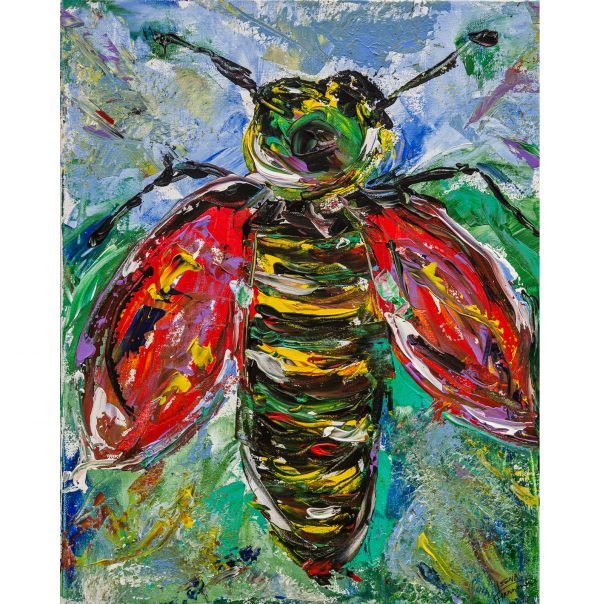 Queen bee painting on canvas