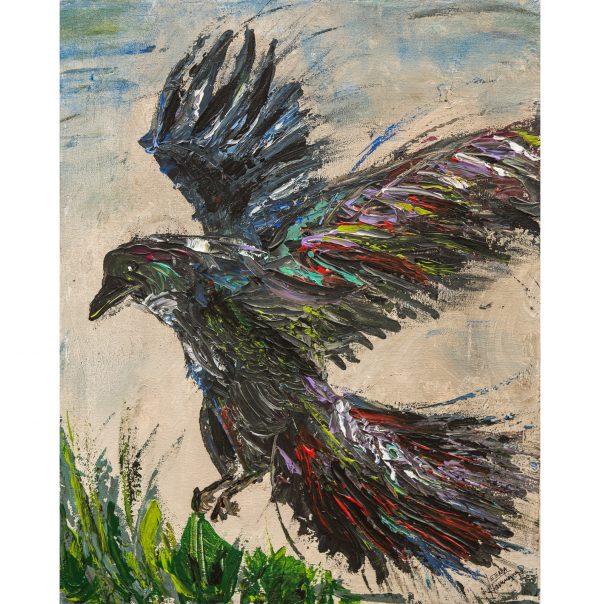 raven landing painting
