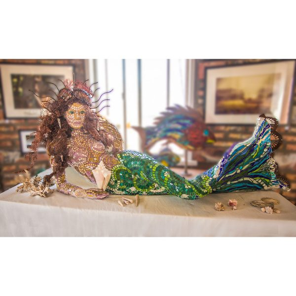 Mosaic Mermaid sculpture