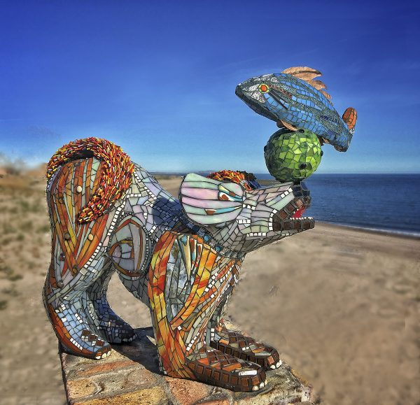 leena hannonen, glass mosaic, sculpture